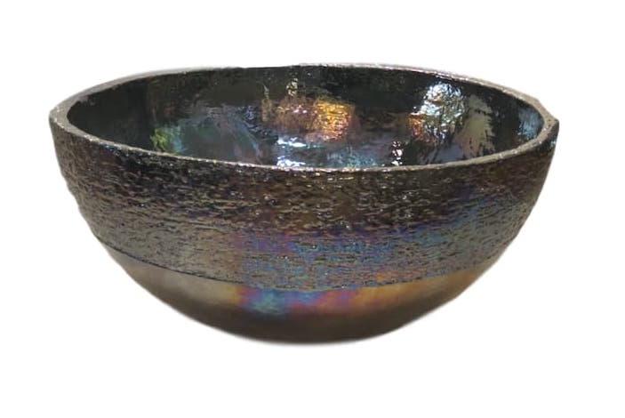 Large Ceramic Bowl, Perol Pearly Luster  19dx10h +/-  EUMIKAS50PP