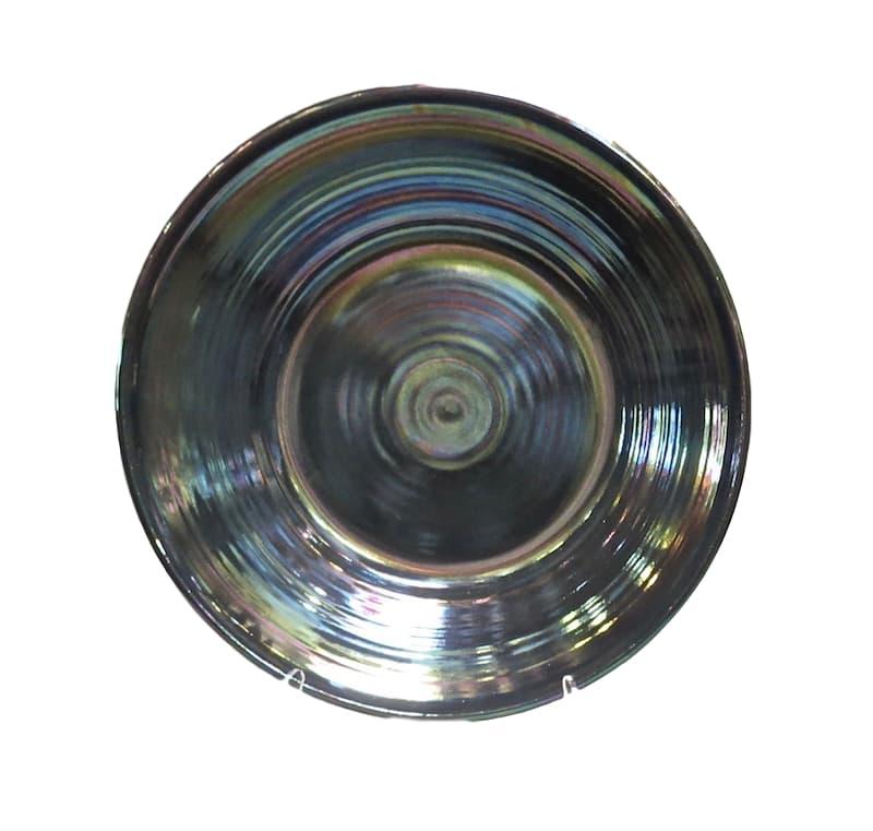 Ceramic Low Bowl, Petrol Pearly Luster  24dx4h  EU9660PP