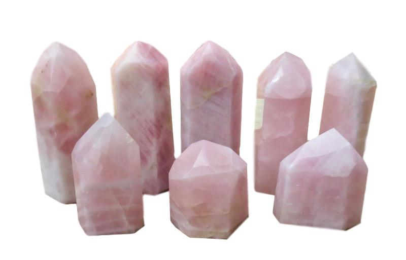Rose Quartz Point  5x4.5x6h - 4x3.5x10.5h