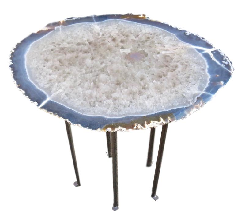 Agate/5 Textured Skinny Leg Table  23x18x23h  MT520AA