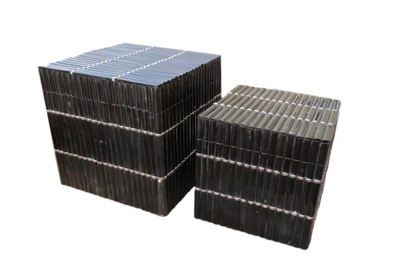 Large Black Horn w/Silver Cube Box  10x10x10h  BIA342  Black Horn w/Silver Cube Box  8x8x8h  BIA342