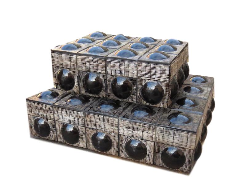 Smooth/Etched Black Horn Bubble Box  7.5x5.5x2.5h  BIJ447S  Smooth/Etched Black Horn Bubble Box  10x8x2.5h  BIJ447L