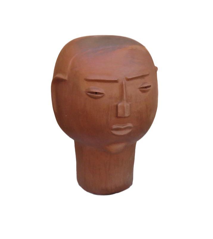 Large Clay Head, Man  13dx21h RLDHDM