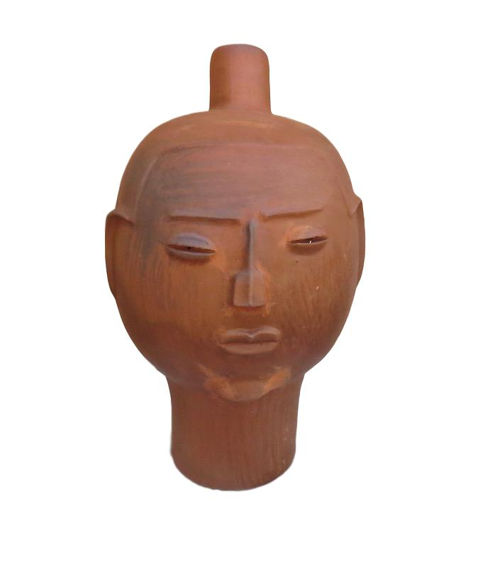 Large Clay Head, Woman,  13dx21h   RLHDW