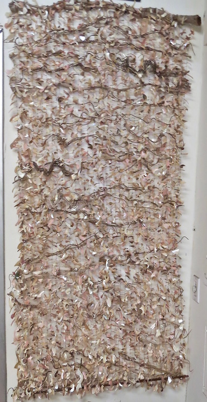 "M.Carvalho Mother of Pearl/Roots Wall Hanging  28x3x67""h RLMCWP"