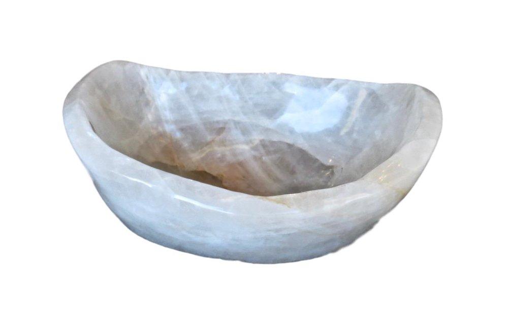 Large Quartz Crystal Bowl  22x15x10h MT535