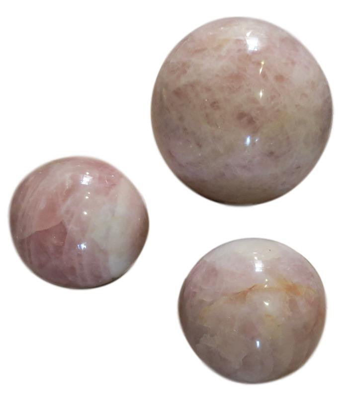 "Rose Quartz Crystal Spheres  7""d  MT491,    5""d   FOS839"