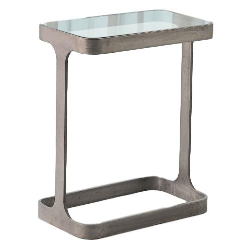 Saddle Table Iron/Glass  16x9.5x20h GV7.90866