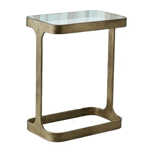 Saddle Table Antique Gold/Glass  16x9.5x20h   GV7.90867