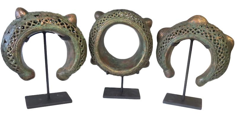 Large Bamun Bracelet Currency/Iron Stand Camaroon  10x4x12h +/- AF200AA