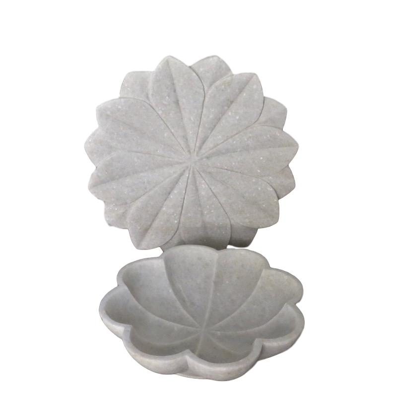 Marble Lotus Dish and Marble Lotus Bowl