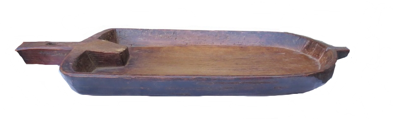 Old Flat Wood Tray, Nagaland, India  25.5x9x2h   BT1306