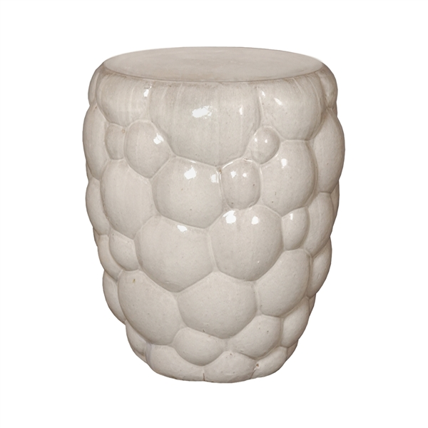 "Ceramic Berry Stool, Gray  18dx23""h   EY1236GR"