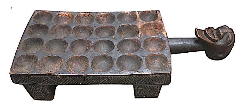 Antique Songye Game Board DRC, Africa   26x11x7.5h  AF220