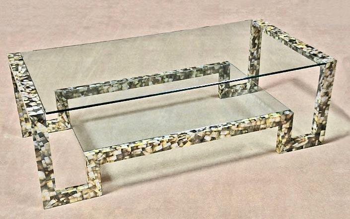 Cosmopolitan Cocktail Table in Black Lipshell 55×28×18h MC427-4622