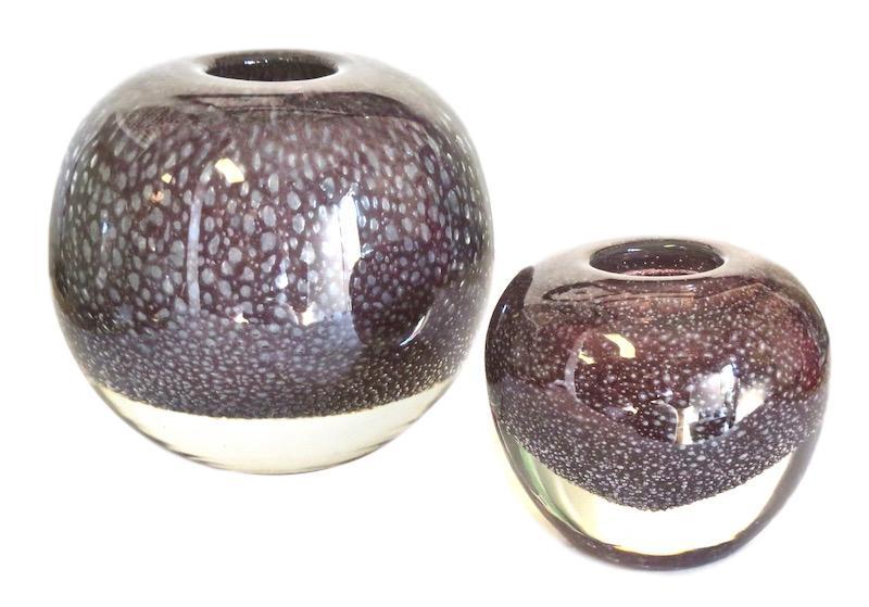 Glass Ball Bubbles Vase, Cassis  Small 5.3dx5.3h EU1472391  Large 8dx8h  EU1472392