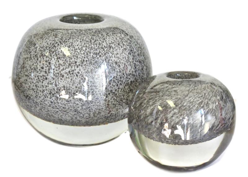 Glass Ball Bubbles Vase, Grey  Small 5.3dx5.3h  EU1471225  Large 8dx8h  EU1471226