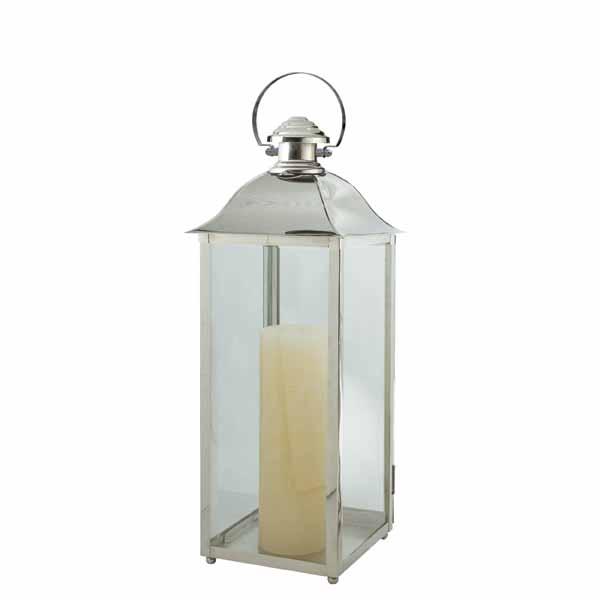 Charleston Lantern, , Stainless, Polished Nickel  10x30h  CT814414