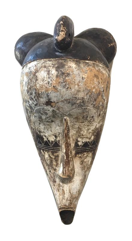 Vintage Fang Mask Gabon, Africa   10x12x23h    AF225