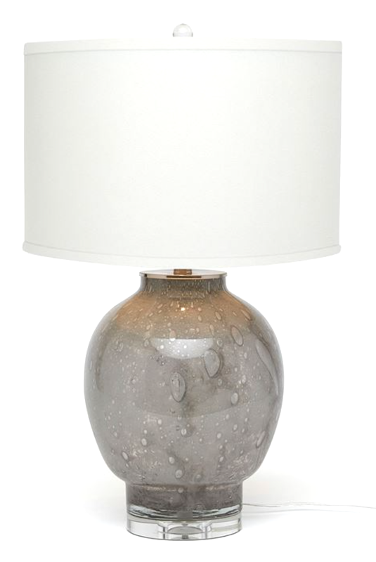 Grey Bubble Glass/Acrylic Lamp   17dx28h  MGGUSTA