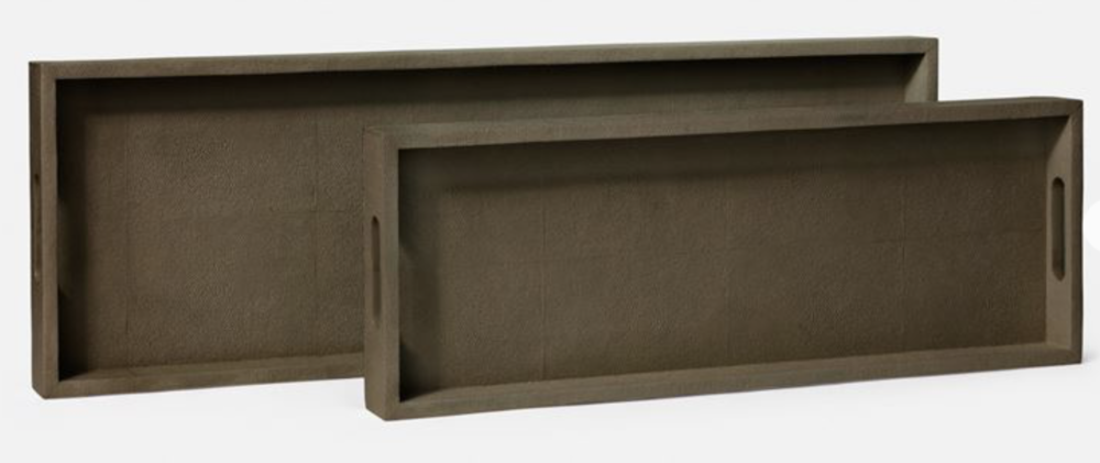 Console Tray Faux Shagreen, Seal  28x13x2h  MGEMYCTLS  24x11x2h   MGEMYCTSS