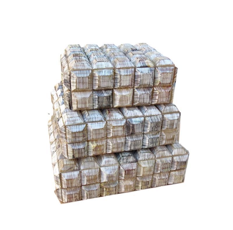 Light Bone Raised Square Box   Large 11.5x10x3.5h   BIU5L  Medium 10x8.5x3.5h    BIU5M  Small 8.5x7x3.5h   BIU5S
