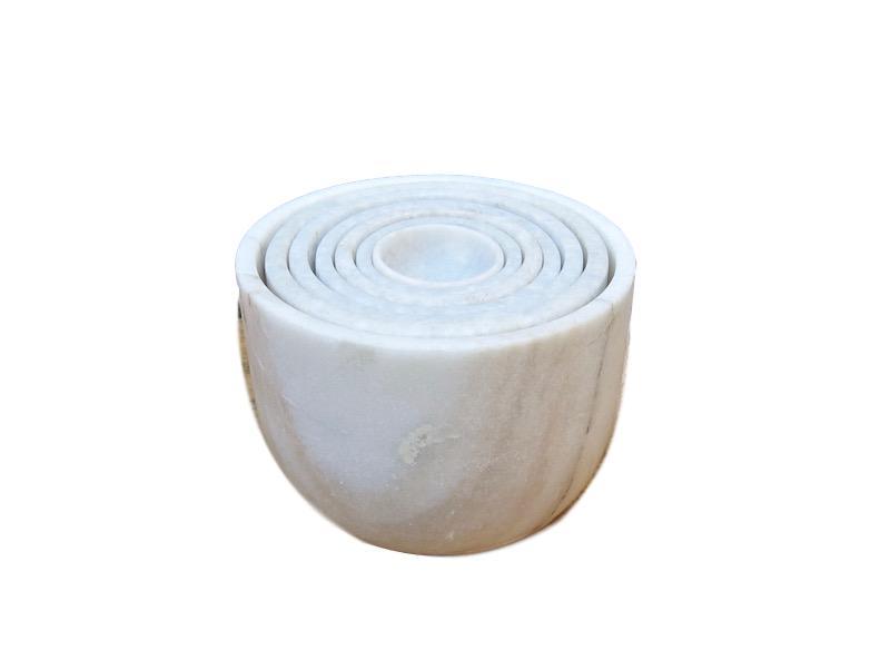Marble Concentric Bowl Set   5.5dx4h  BOAM1245