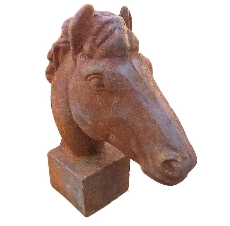 Small Rusted Iron Horse Head/Base   10x4x12h  BO878S