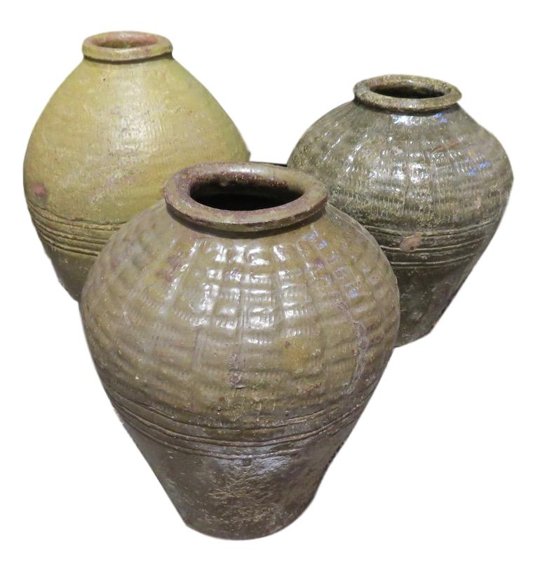 Vintage Small Mijiu Wine Jar   8.5dx13h +/-  BOL33S