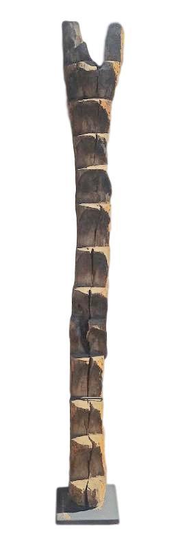 "Old Dogon Ladder/Stand Mali, Africa  14""sq x 80-83""h  AF232"