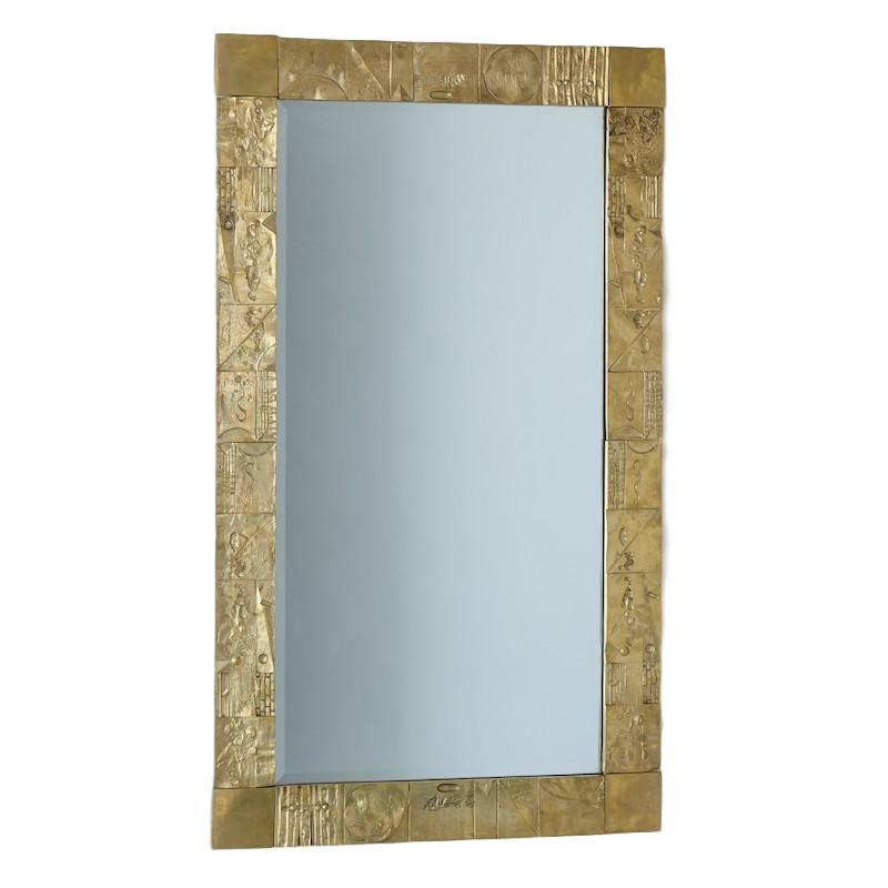 Pimlico Mirror in Brass  26.5x46  GV7.80565