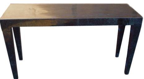 "Cube Console Table, Black Stone  30""h x 55""l x 18""d   MC57 -1454"