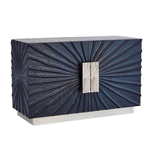 Pleated Pine Medias Cabinet w/Aluminum Pulls  44x18x28h GV9.92774