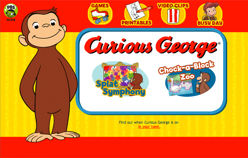 Curious George Website