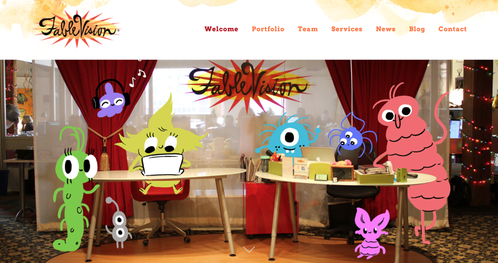 Fablevision homepage