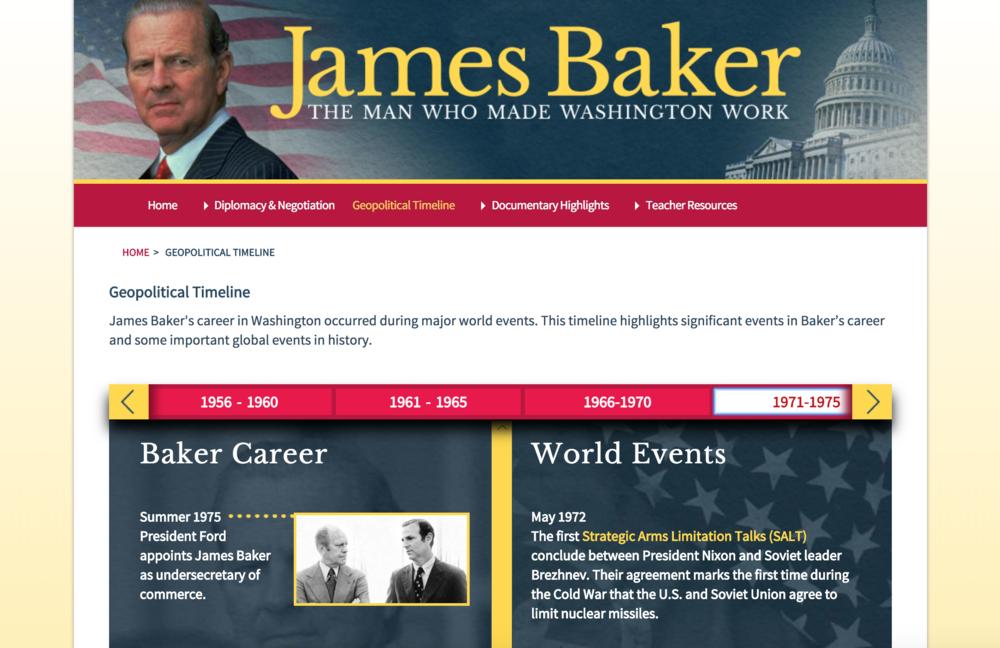 James Baker timeline