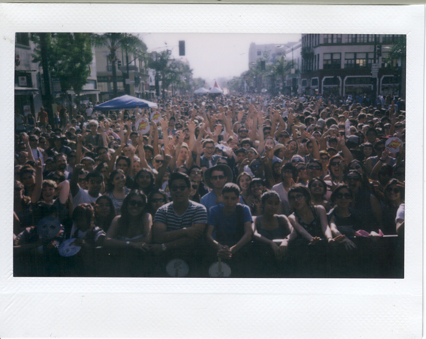 We took this lovely polaroid from the stage at Make Music Pasadena yesterday. Looking at it give us the chills. The best.