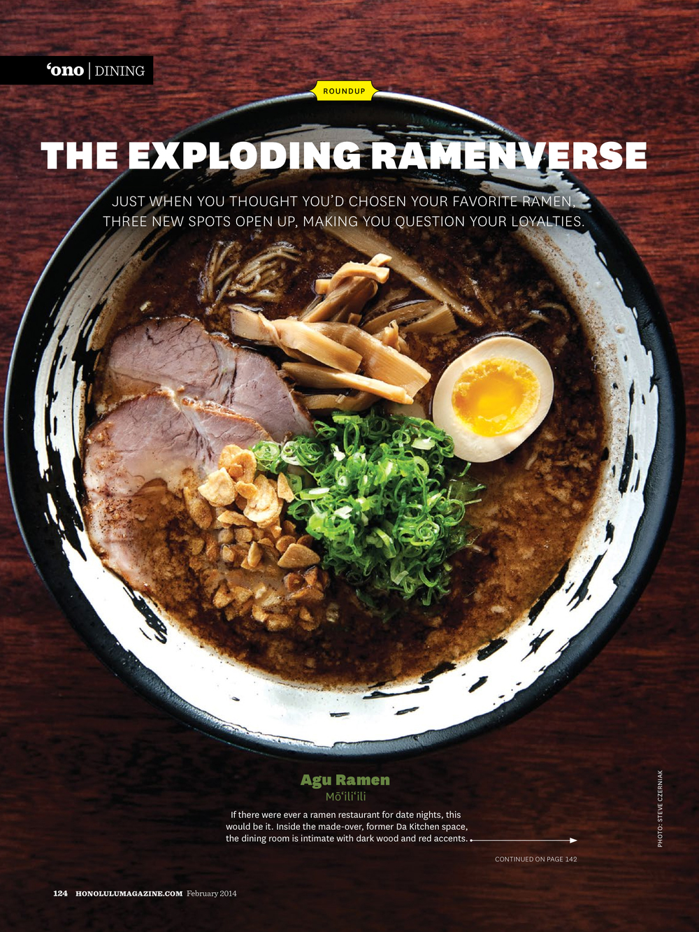 Honolulu Magazine  Agu Ramen   ©   2013-2016 Steve Czerniak