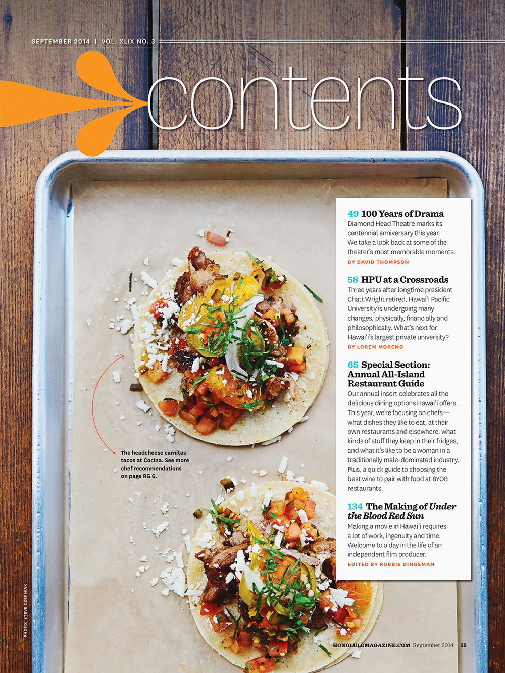 Honolulu Magazine  Cocina   ©   2013-2016 Steve Czerniak