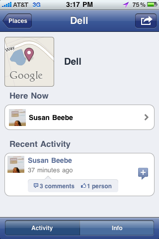 "How to add a ""place"" on Facebook Places with iPhone app [PICS]"