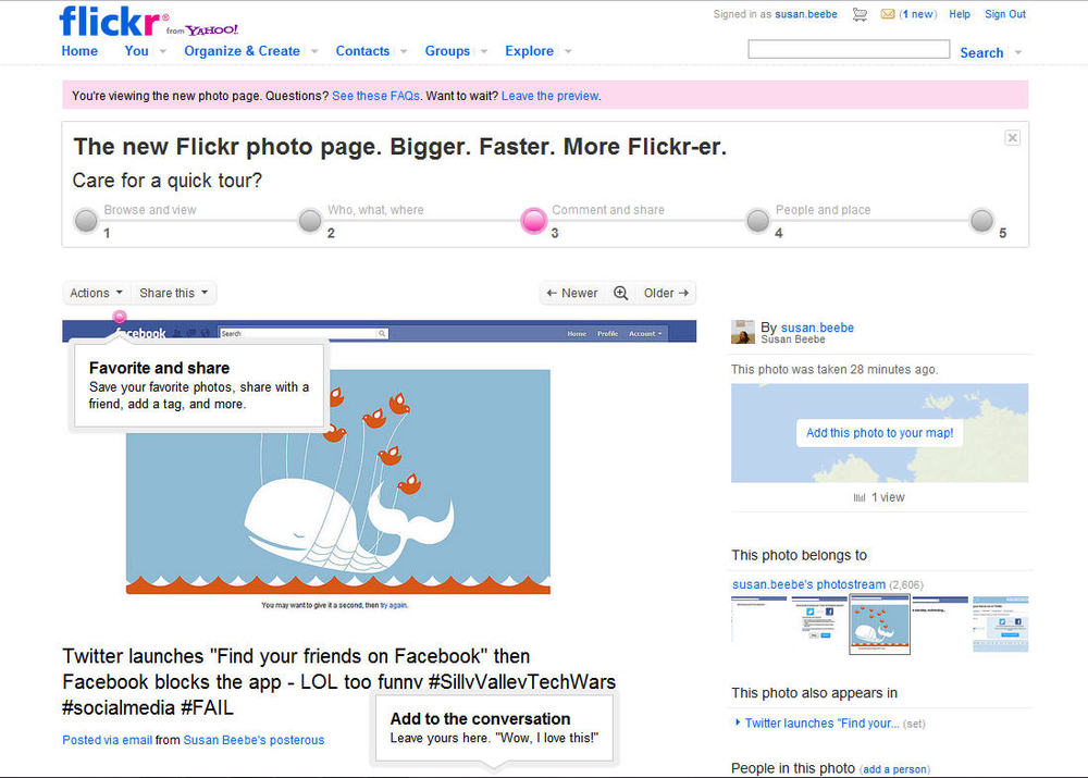 The new Flickr photo page. Bigger. Faster. More Flickr-er. #photos #photography #socialmedia