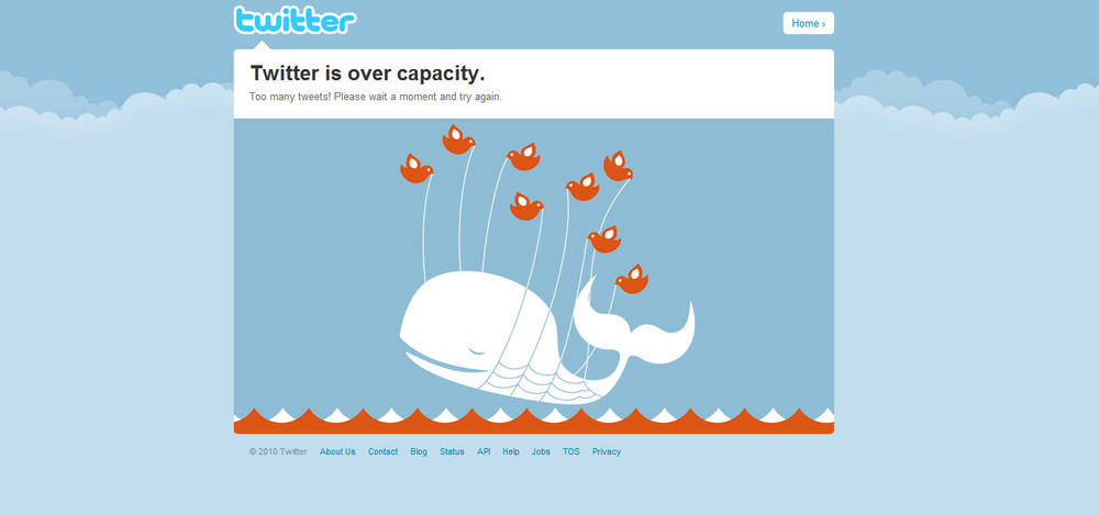 Twitter FAIL Whale time ... boo [PICS] - *new* fail whale image page?? See the 503 one with 2009(c)