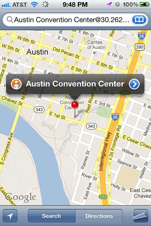 SXSW map google app