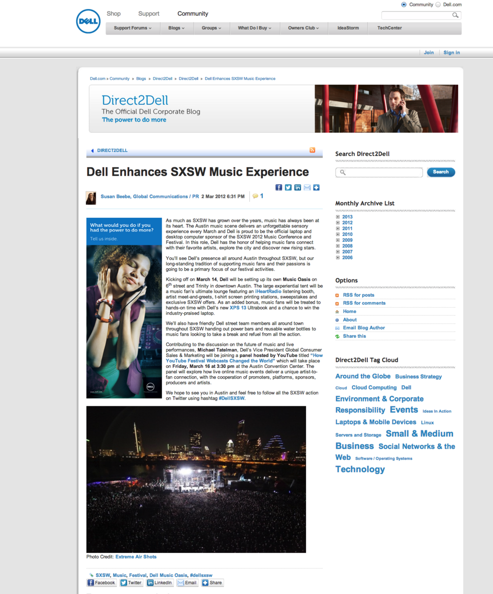 Dell Enhances SXSW Music Experience