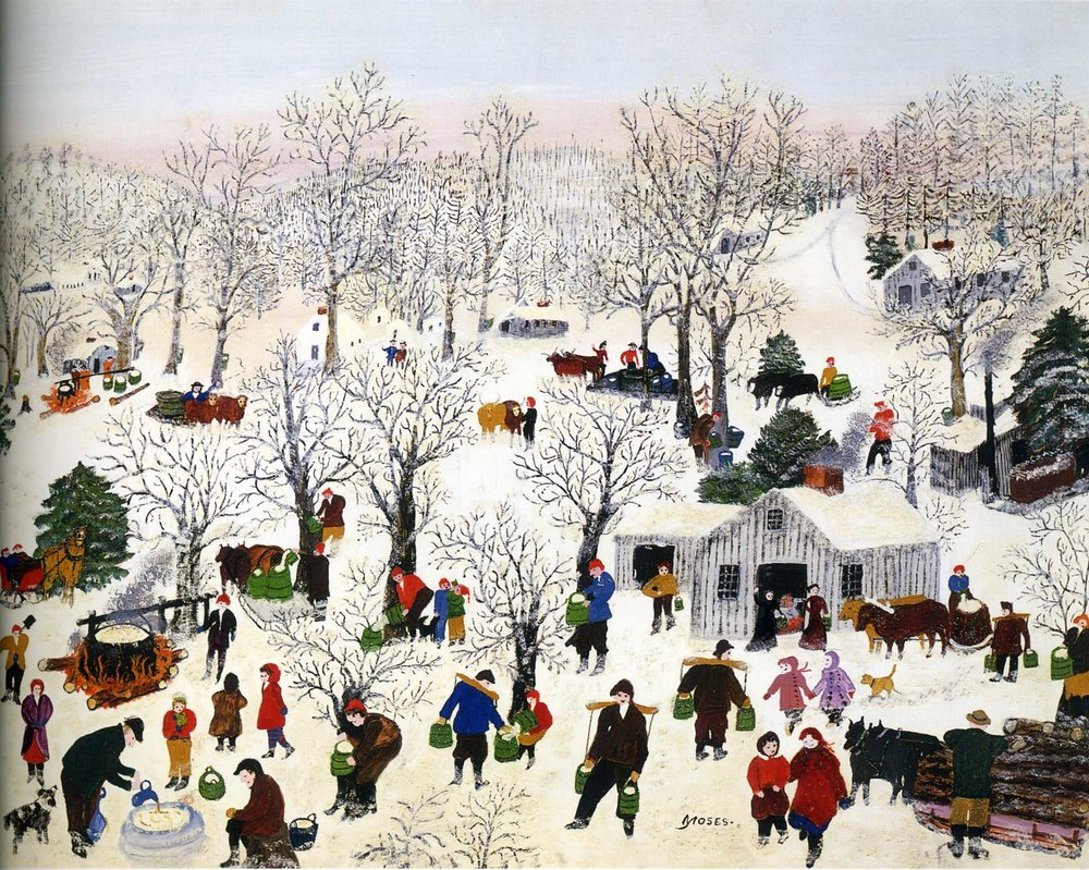 Sugaring Off by Grandma Moses (sold for $1.2 Million in 2006)