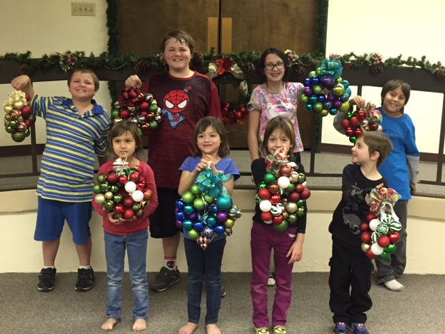 Tweens on 12.2.16 we made wreaths. The circle represents eternity - it never ends - and is a reminder of the true gift of Christmas - our Savior Jesus Christ!