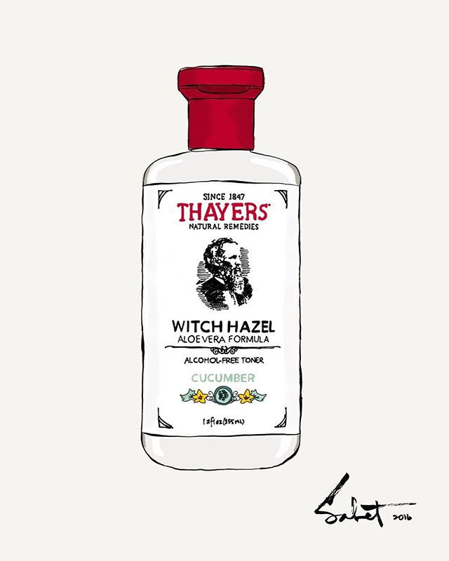 When I designed the THAYERS bottle and labels (@thayersnatural) 4 years ago I had no idea it would become as iconic as it is today. Painting an iconic product that I also designed is an elating experience. Not that I compare myself to this master, but it would be as if Andy Warhol had also designed the Campbells soup can before painting it!