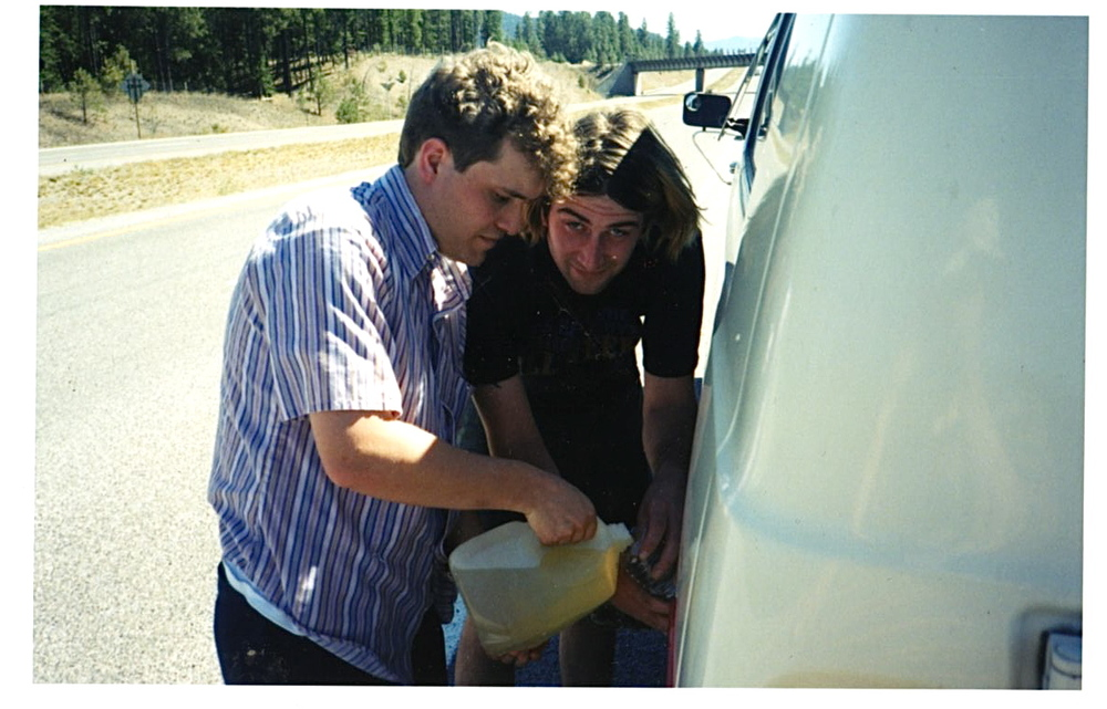 Mr Wilcox and Big Vern on gas duty.