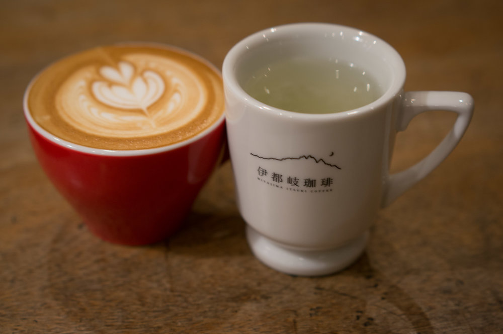 Great cappuccino, but the hot lemonade was tasty too at Miyajima Itsuki Coffee.
