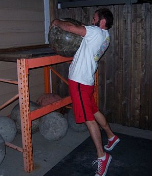My first Atlas Stone Load at bodyweight of about 165#